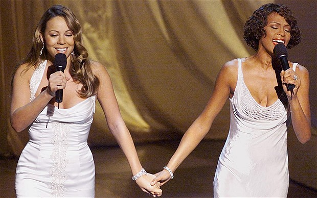 Whitney Houston en Mariah Carey