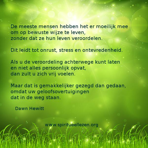 Q: 2016   : Dawn Hewitt - Bewust leven