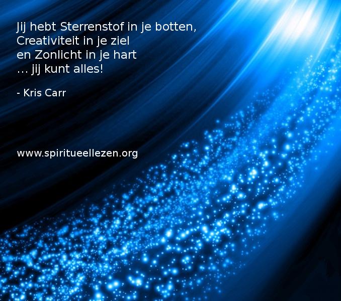 Q: 2016 : Kris Carr - Jij hebt Sterrenstof